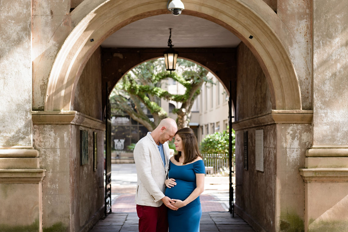 College of Charleston Maternity | Downtown, SC Maternity Photographer